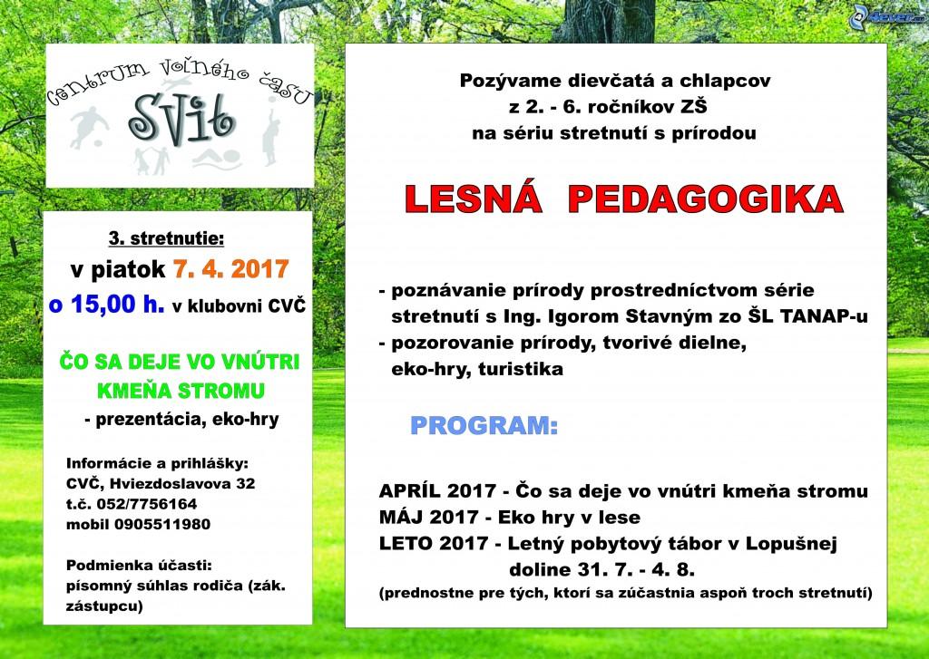 Projekt – Lesná pedagogika