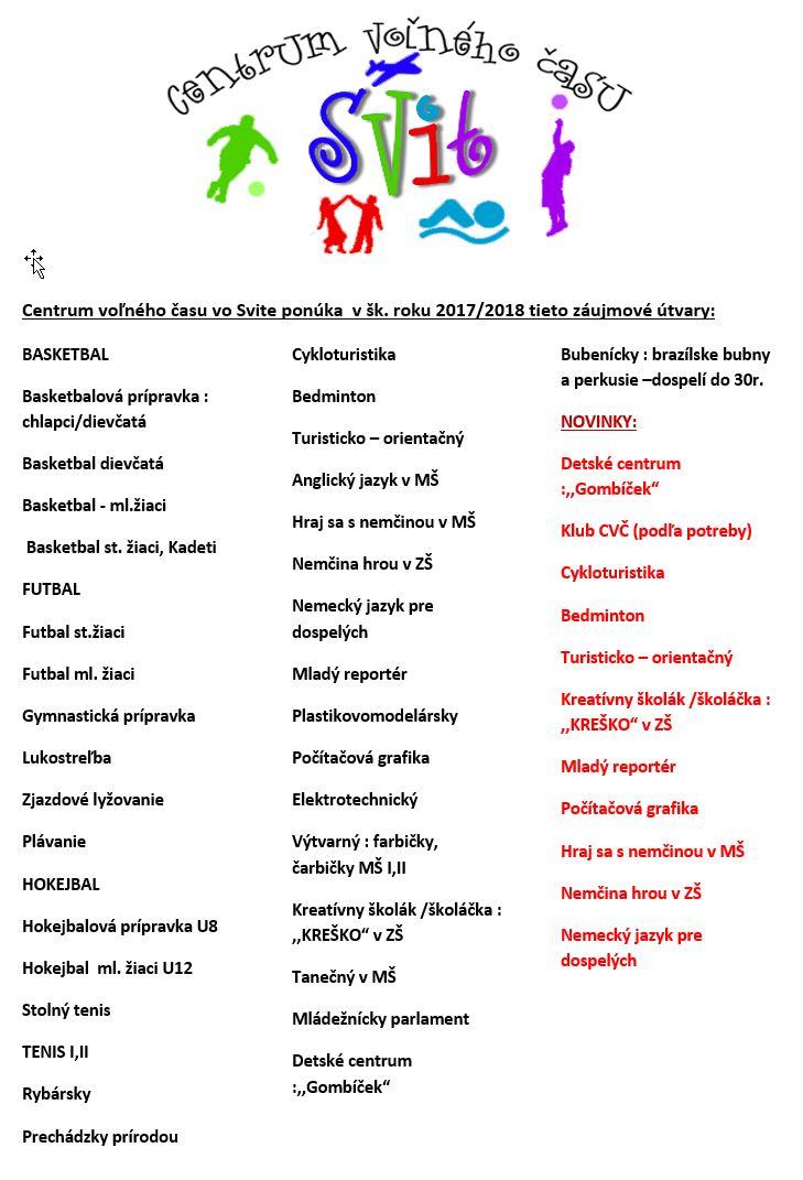 Krúžky šk.r.2017-18 zoznam plagát